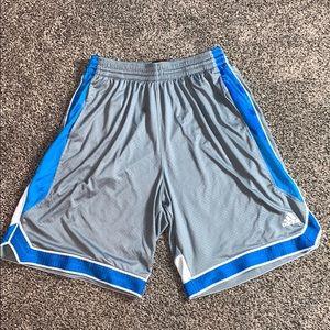 Adidas Basketball Mens Gray Athletic Shorts SZ.L